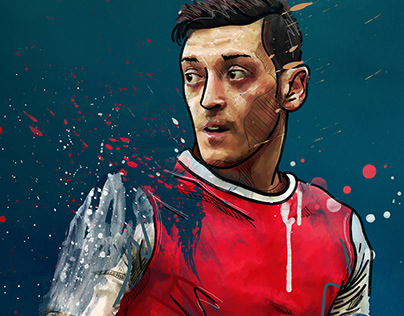 50 football digital paintings