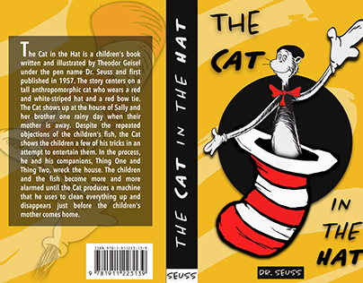 The Cat in the Hat Book Cover (Redone)