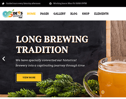 Long Brewing - Wordpress Website Design and development