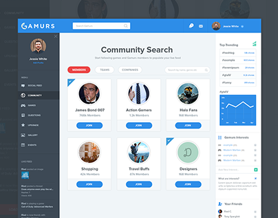 Community Search UX/UI