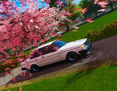 4K Volvo 242 Turbo Pink Tree Forza Horizon 4