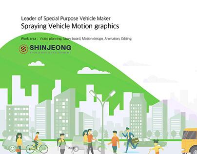 Spraying Vehicle Motion graphics