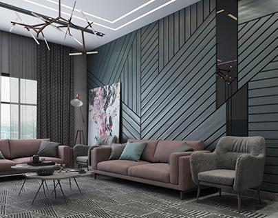 Modern Women Majlis designed by Tangram Design Studio