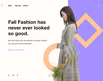 Fashion website Landing Page.