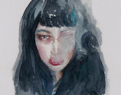 Portrait by Watercolor