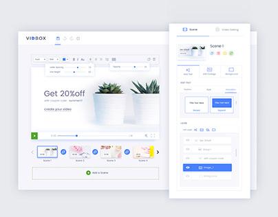 VidBox: Dashboard and Website Design