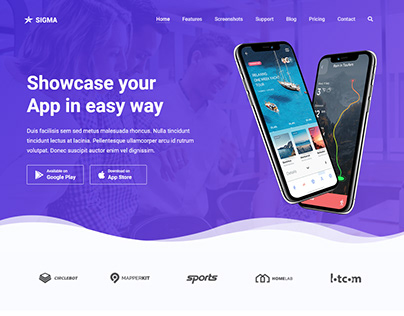 Sigma - App Landing Page Template