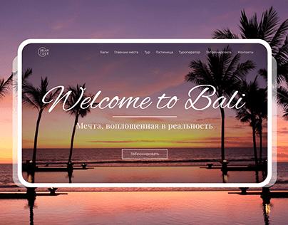BALI landing page concept design (Travel Website)