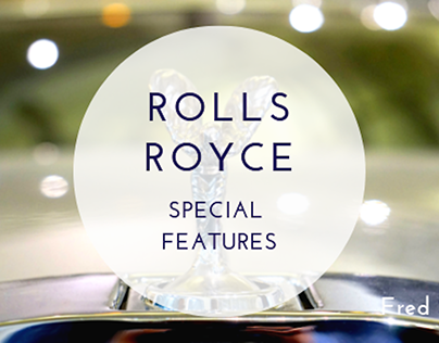 Fred Sines | Rolls Royce Special Features