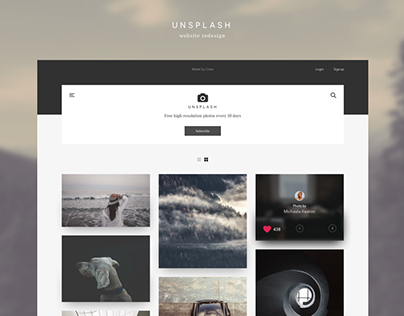 Unsplash - Redesign