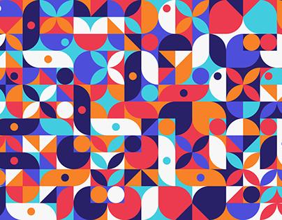 Free Geometric Retro Style Pattern