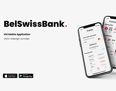 BelSwiss - mobile banking application UX/UI