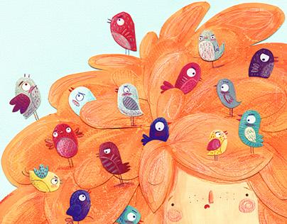 Birds in the Hair
