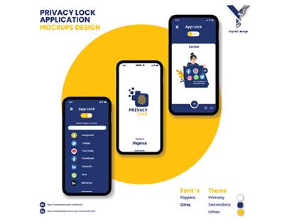 Privacy Lock UI UX Graphics Lottie