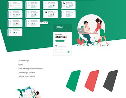 Jobla.co UI/UX Design + Illustrations