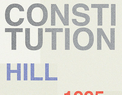 """Brochure made for the """"Constitution Hill"""" memorial."""