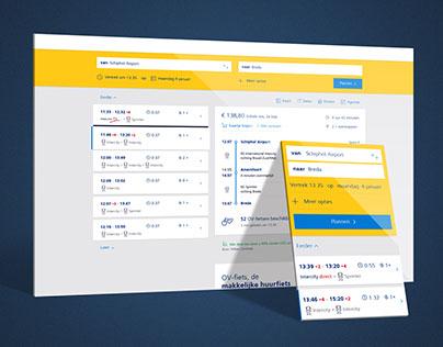 NS.nl Reisplanner - website UX/UI design