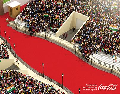 Coke Wagha Border Ad