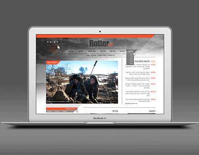 Rotter web design // עיצוב אתר חדשות