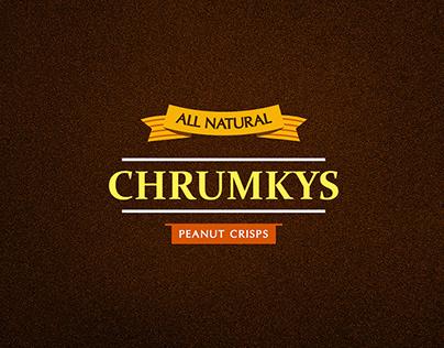 Chrumkys Peanut Crisps Packaging Flyer Ad Design