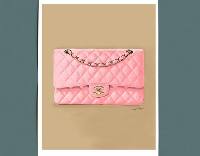 Pink Chanel Bag artwork