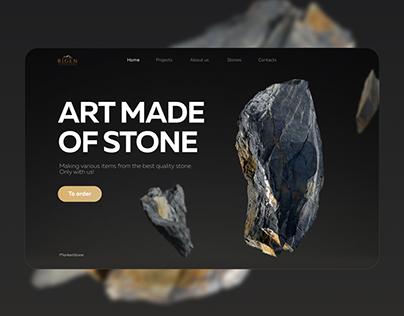 Stone processing company page