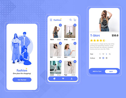 Top fashion app ui design in 2020
