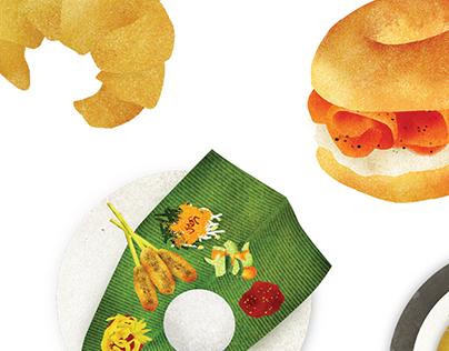 Food Criminal - Menu Illustration