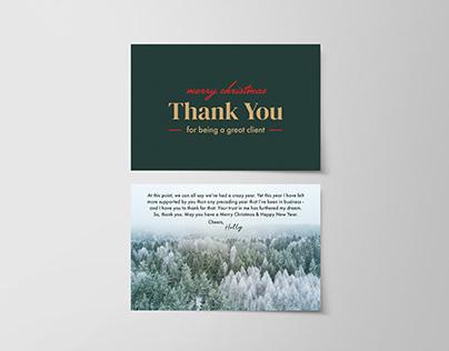 Holly E Design 2020 Christmas Card