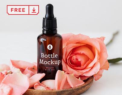 Free Beauty Bottle Mockup