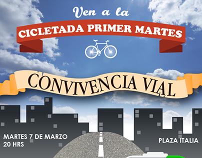 Afiche Movimiento Furiosos Ciclistas Diciembre 2016