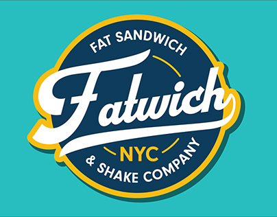 FATWICH NYC Branding & food truck wrap design