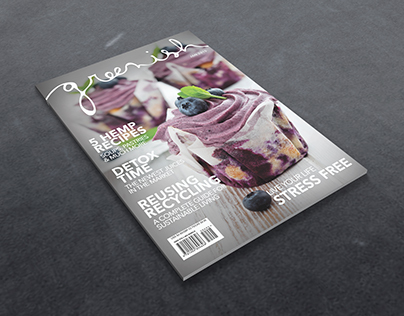 Greenish Magazine Cover Design