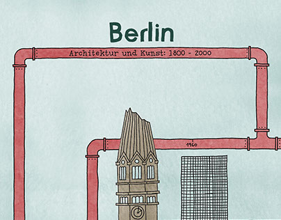 Berlin - Illustrated backlight frame