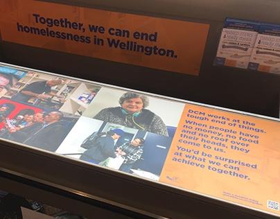 Foodbank Signage for DCM, Wellington