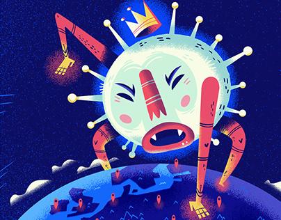 :::Corona Virus - editorial illustrations:::