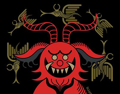 2019 Halloween Demon Cat