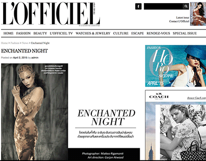 L'Officiel Thailand - enchanted night