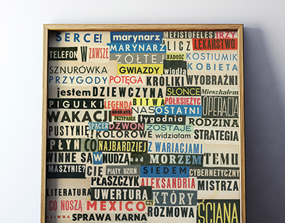 Słowa / Words - set of collages