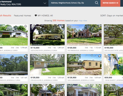 New Home Search UI/UX