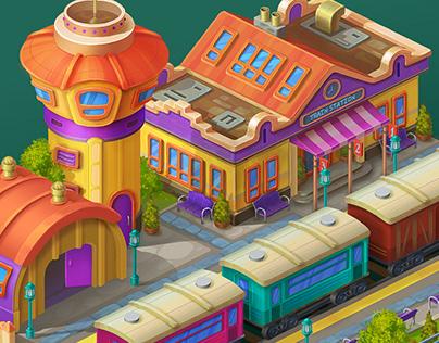 Railway station concept