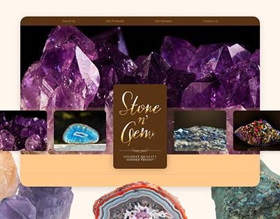 Stone n' Gem | Landing Page UI Design