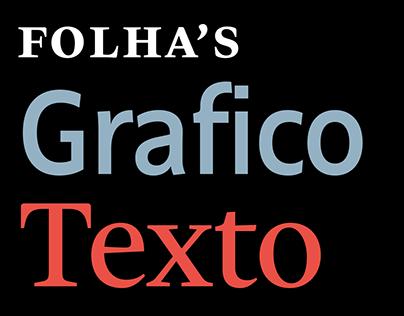 Folha Grafico & Texto Typefaces