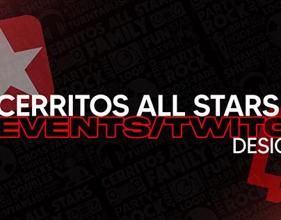 Cerritos All Stars Twitch Event Designs