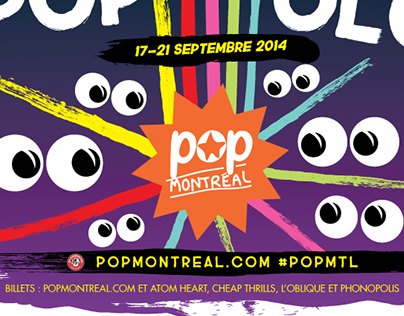 Pop Montreal 2014 posters