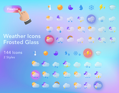 Frosted Glass Weather Icons
