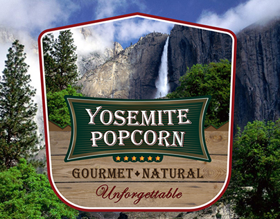 Yosemite Popcorn Labels