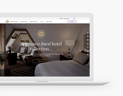 Website for the Bognanco Resort