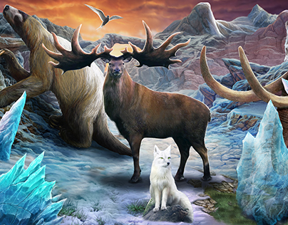 Ice Age - Illustration for children magazine