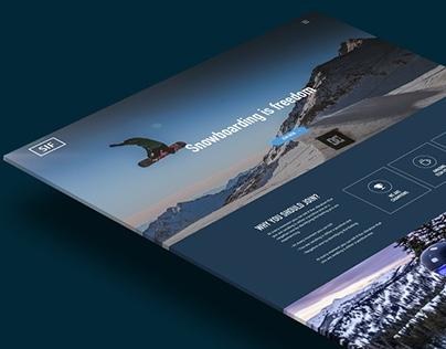 Snowboarding Web Design